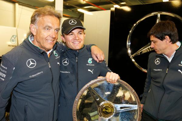 Albert Park, Melbourne, Australia. Sunday 16 March 2014. Nico Rosberg, Mercedes AMG, 1st Position. World Copyright: Charles Coates/LAT Photographic. ref: Digital Image _J5R6432