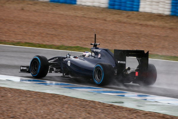 2014 F1 Pre Season Test 1 - Day 2 Circuito de Jerez, Jerez, Spain. Wednesday 29 January 2014. Valtteri Bottas, Williams FW36 Mercedes. World Copyright: Glenn Dunbar/LAT Photographic. ref: Digital Image _W2Q9055.JPG
