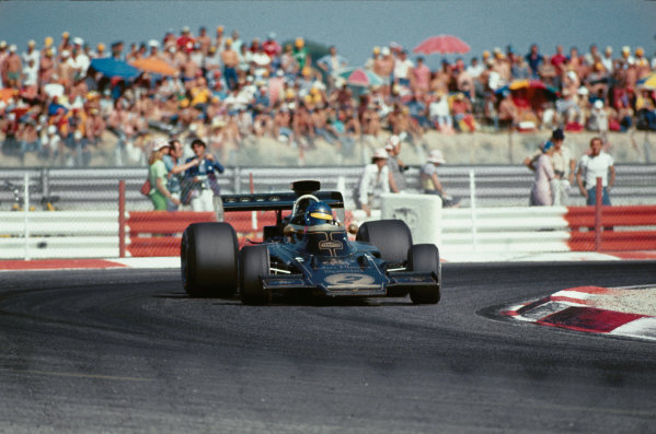 1973 French Grand Prix.  Paul Ricard, Le Castellet, France. 1 July 1973.  Ronnie Peterson (Lotus 72-Ford), 1st position.  Ref: 73FRA78. World Copyright: LAT Photographic.