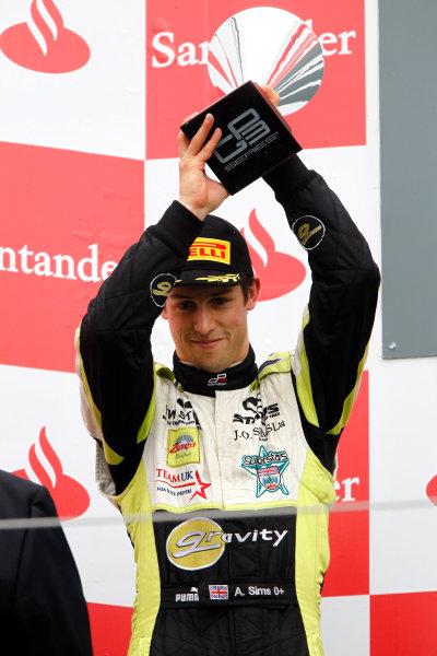 Round 5. Nurburgring, Germany. 24th July 2011.Race Two.Alexander Sims, (GBR, Status Grand Prix) on the podium Portrait. Photo: Andrew Ferraro/GP3 Media Service.    ref: Digital Image _Q0C8954