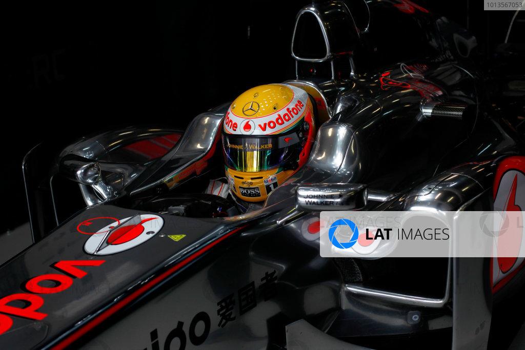Albert Park, Melbourne, Australia 25th March 2011. Lewis Hamilton, McLaren MP4-26 Mercedes. Portrait. Helmets.  World Copyright: Steven Tee/LAT Photographic ref: Digital Image _A8C2763
