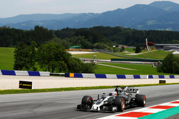 Red Bull Ring, Spielberg, Austria. Sunday 09 July 2017. Romain Grosjean, Haas VF-17. World Copyright: Steven Tee/LAT Images ref: Digital Image _R3I7958