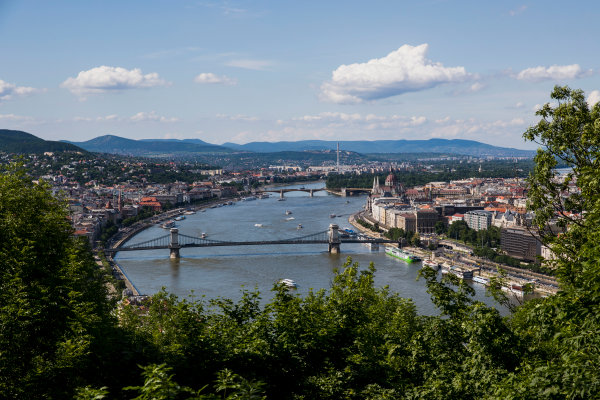 Hungaroring, Budapest, Hungary. Monday 5 June 2017. A view of the city from Citadella. World Copyright: Zak Mauger/LAT Images ref: Digital Image _56I0519
