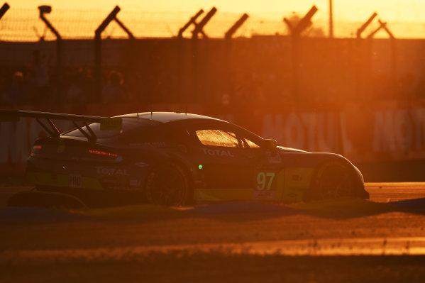 2017 Le Mans 24 Hours Circuit de la Sarthe, Le Mans, France. Saturday 17 June 2017 #97 Aston Martin Racing Aston Martin Vantage: Darren Turner, Jonathan Adam, Daniel Serra World Copyright: Rainier Ehrhardt/LAT Images ref: Digital Image 24LM-re-10799A