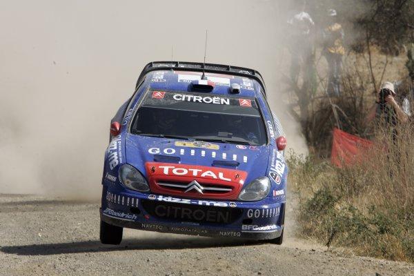 2006 FIA World Rally Champs. Round Three; Rally Mexico.; 2nd - 5th March 2006.Sebastien Loeb, Citroen, action. World Copyright: LAT/McKlein