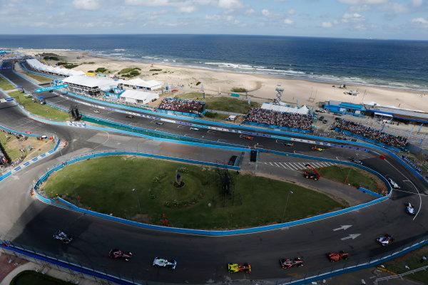 2014 FIA Formula E Championship. Punta del Este ePrix, Uruguay. The Safety car leads the field around the circuit. Photo: Zak Mauger/LAT/FE ref: Digital Image _L0U1793
