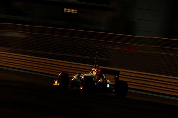 Yas Marina Circuit, Abu Dhabi, United Arab Emirates. Wednesday 26 November 2014. Spike Goddard, Force India VJM07 Mercedes. World Copyright: Glenn Dunbar/LAT Photographic. ref: Digital Image _89P9030