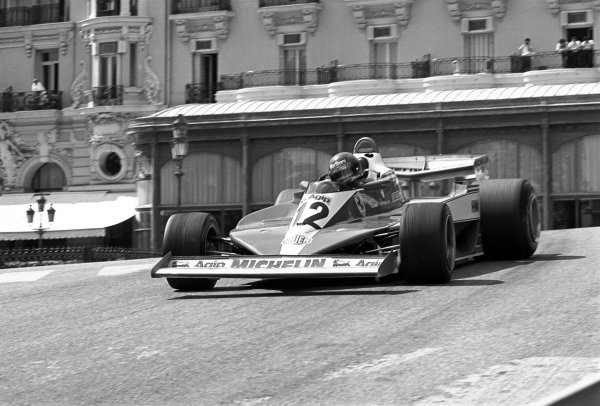 Monte-Carlo, Monaco. 5th - 7th May 1978. Gilles Villeneuve (Ferrari 312T3), retired due to a front tyre bursting, action. World Copyright:  LAT Photographic. ref: 11170 - 26-26A.