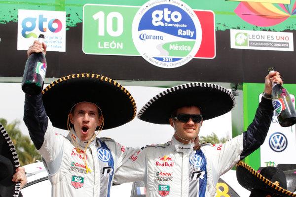 2013 World Rally Championship Rally Mexico 7th - 10th March 2013 Sebastien Ogier, Julien Ingrassia, VW, podium Worldwide Copyright: McKlein/LAT