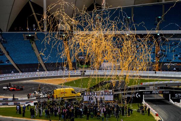 2018 Race Of Champions King Farhad Stadium, Riyadh, Abu Dhabi. Saturday 3 February 2018 The podium ceremony. Copyright Free FOR EDITORIAL USE ONLY. Mandatory Credit: 'Race of Champions'
