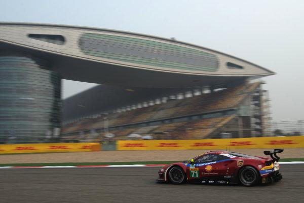 2017 FIA World Endurance Championship, Shanghai, China. 3rd-5th November 2017, #71 AF Corse Ferrari 488 GTE: Davide Rigon, Sam Bird  World Copyright. JEP/LAT Images