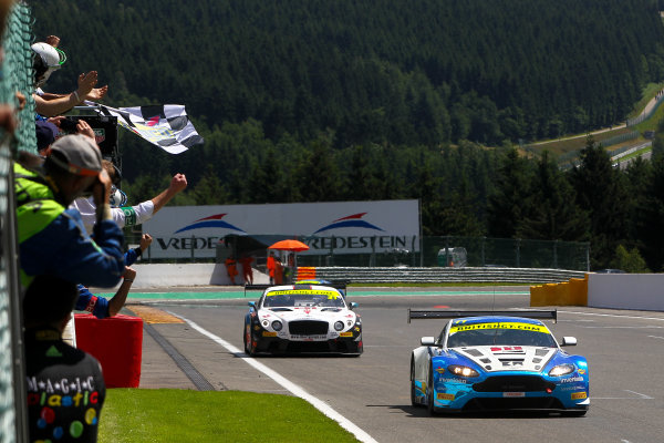 2016 British GT Championship, Spa-Francorchamps, Belgium. 8th - 9th July 2016. Mark Farmer / Jon Barnes TF Sport Aston Martin GT3.  World Copyright: Ebrey / LAT Photographic.
