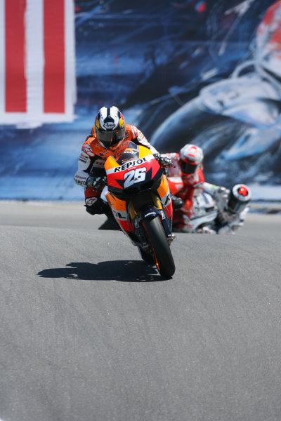 USA Laguna Seca 23-25 July 2010Jorge Lorenzo Repsol Honda Team leads Stoner and Lorenzo