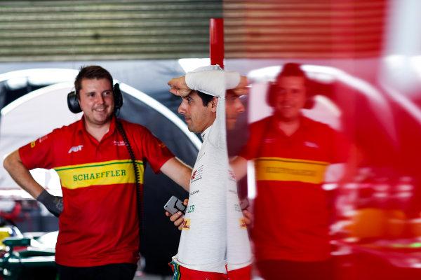 FIA Formula E Second Pre-Season Testing Event. Lucas di Grassi, ABT Schaeffler Audi Sport, Spark-Abt Sportline. Donington Park Racecourse, Derby, United Kingdom. Wednesday 7 September 2016. Photo: Adam Warner / LAT ref: Digital Image _L5R3310