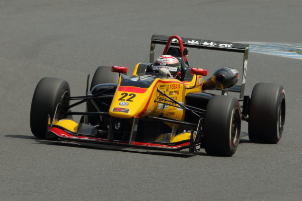 2016 Japanese Formula 3 Championship. Motegi, Japan. 20th - 21st August 2016. Rd 11 & 12. Round 12 Winner Jann Mardenborough ( #22 B-MAX NDDP F3 ) action World Copyright : Yasushi Ishihara/LAT Photographic Ref : 2016JF3_R11&12_013