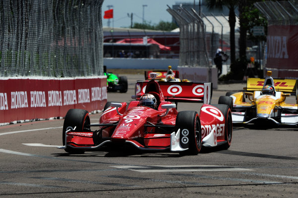 Scott Dixon (NZL) Chip Ganassi Racing. Indycar Series, Rd1, Honda Grand Prix of St. Petersburg, St. Petersburg, Florida, USA, 24-26 March 2012.