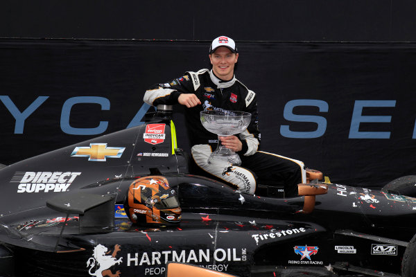 12-14 June, 2015, Toronto, Ontario Canada Josef Newgarden celebrates in victory lane ?2015, Phillip Abbott LAT Photo USA