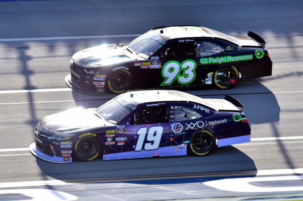 #19: Brandon Jones, Joe Gibbs Racing, Toyota Camry Toyota XYO Networks, #93: Jeff Green, RSS Racing, Chevrolet Camaro RSS Racing