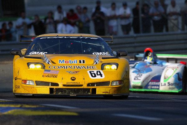 2004 Le Mans 24 Hours.Le Mans, France. 12th-13th June 2004.Gavin/Beretta/Magnussen (Corvette Racing Chevrolet Corvette C5-R) action.World Copyright: John Tingle/LAT Photographicref: Digital Image Only