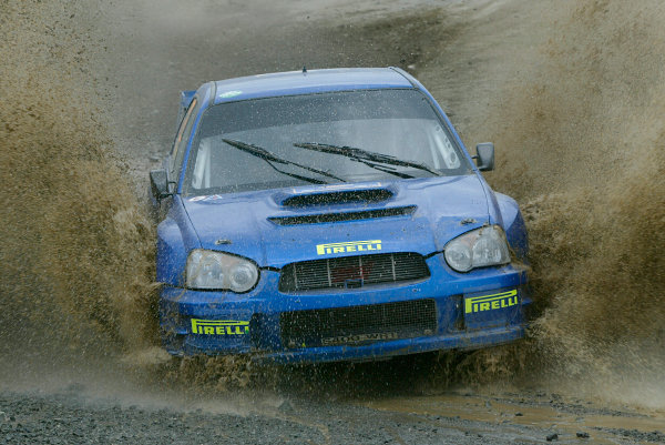 2004 FIA World Rally Champs. Round six, Acropolis Rally.3rd-6th June 2004.Alister Ginley, Subaru, action.World Copyright: McKlein/LAT