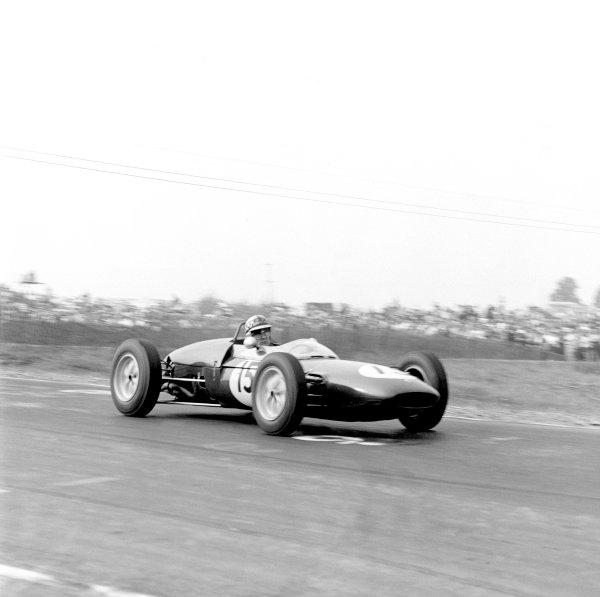 1961 United States Grand Prix.Watkins Glen, USA. 8 October 1961.Innes Ireland (Lotus 21-Climax), 1st position. Ref-LAT 10917, 40mb RGB scan.World Copyright: LAT Photographic