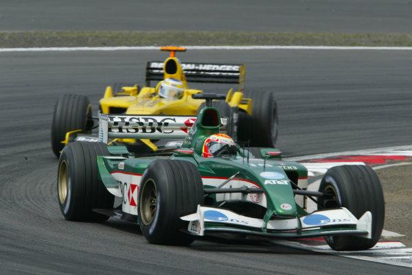 2003 European Grand Prix - Sunday RaceNurburgring, Germany.29th June 2003.Antonio Pizzonia, Jaguar R4, action.World Copyright LAT Photographic.Digital Image Only.