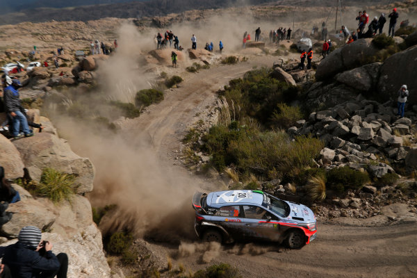 2016 FIA World Rally Championship, Round 04, Rally Argentina, April 21-24, 2016 Hayden Paddon, Hyundai, action  Worldwide Copyright: McKlein/LAT
