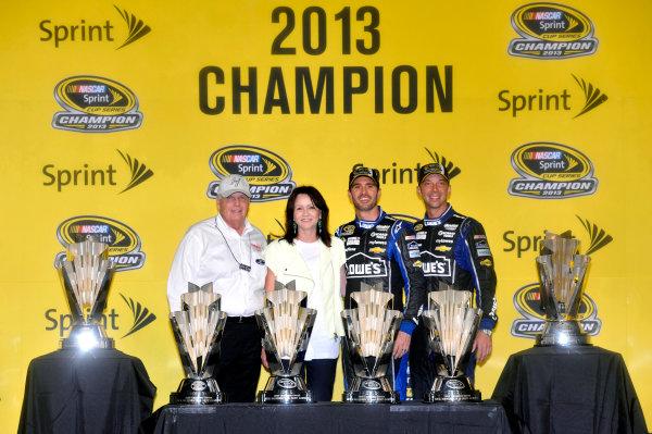 15-17 November, 2013, Homestead, Florida USA Jimmie Johnson celebrates his sixth Sprint Cup Series Championship © 2013, Nigel Kinrade LAT Photo USA