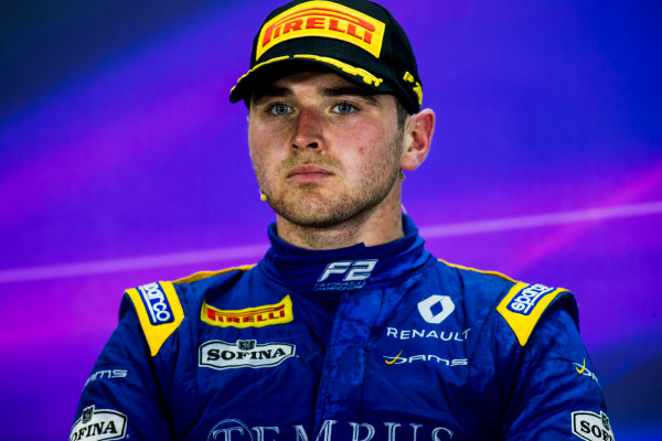 2017 FIA Formula 2 Round 1. Bahrain International Circuit, Sakhir, Bahrain.  Sunday 16 April 2017.Oliver Rowland (GBR, DAMS)  Photo: Zak Mauger/FIA Formula 2. ref: Digital Image _56I2217