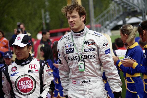 Takuma Sato and Alexander Wurz.