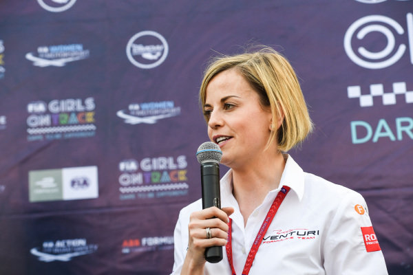Susie Wolff, Team Principal, Venturi Formula E at the FIA Girls on Track event