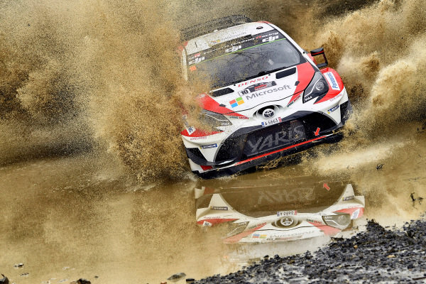 Jari-Matti Latvala (FIN) / Miikka Anttila (FIN), Toyota Gazoo Racing Toyota Yaris WRC at World Rally Championship, Rd13, Rally Australia, Day One, Coffs Harbour, New South Wales, Australia, 17 November 2017.