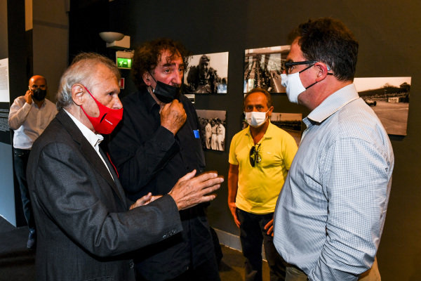 Ercole Colombo, Pierluigi Martini and James Allen, Motorsport Images Exhibition at Villa Reale di Monza