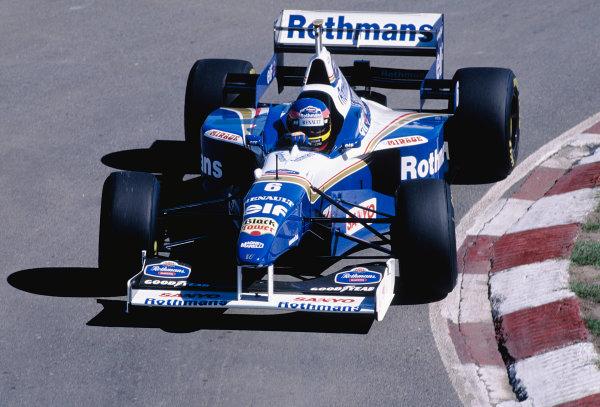 1996 Argentinian Grand Prix.Buenos Aires, Argentina. 5-7 April 1996.Jacques Villeneuve (Williams FW18 Renault) 2nd position.Ref-96 ARG 31.World Copyright - LAT Photographic