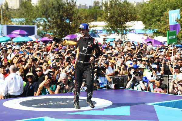 Antonio Felix da Costa (PRT), DS Techeetah, celebrates on the podium