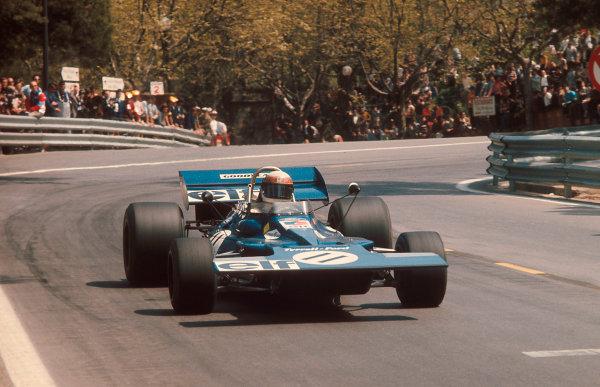 1971 Spanish Grand Prix.Monjuich Park, Barcelona, Spain.16-18 April 1971.Jackie Stewart (Tyrrell 003 Ford) 1st position.Ref-71 ESP 08.World Copyright - LAT Photographic