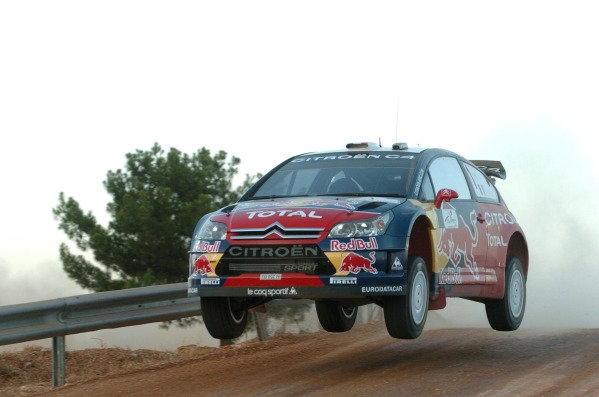 Sebastien Loeb (FRA) Citroen on stage 1. FIA World Rally Championship, Rd8, Rally of Turkey Shakedown, Kemer, Antalya, Turkey,  June 12-15, 2008.