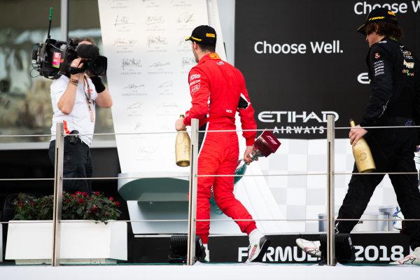 Antonio Fuoco (ITA, Charouz Racing System). Lando Norris (GBR, Carlin). And Roberto Merhi (SPA, Campos Vexatec Racing)