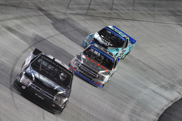 #15: Tanner Gray, DGR-Crosley, Ford F-150 Ford Performance, #98: Grant Enfinger, ThorSport Racing, Ford F-150 ADS/Lucas Oil, #99: Ben Rhodes, ThorSport Racing, Ford F-150 Tenda Heal