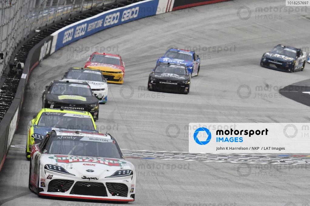 #20: Harrison Burton, Joe Gibbs Racing, Toyota Supra Hunt Brothers Pizza/DEX Imaging, #19: Brandon Jones, Joe Gibbs Racing, Toyota Supra Menards/Jen-Weld