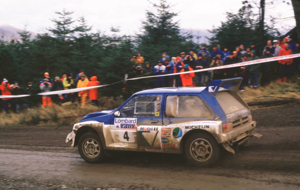 1986 RAC RallyTony Pond, actionWorld Copyright LAT Photographic