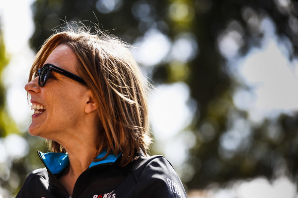 Claire Williams, Deputy Team Principal, Williams Racing.