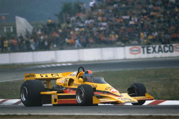 Hockenheim, Germany. 29th - 31st July 1977. Rd 11. Hans Heyer, Penske PC4 Ford, retired. Ref: 77GER04. World Copyright - LAT Photographic