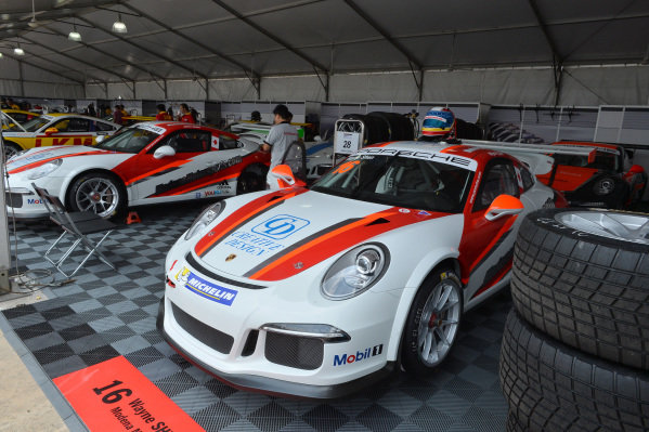 Wayne Shen (HKG) Modena Motorsports. Porsche Carrera Cup Asia, Sepang, Malaysia, 28-30 March 2014.